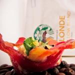 Barquitos de Bacon con Salsa de Café