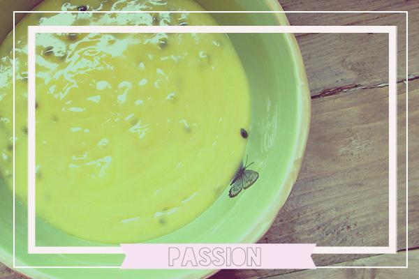 Crema pastelera fruta pasion