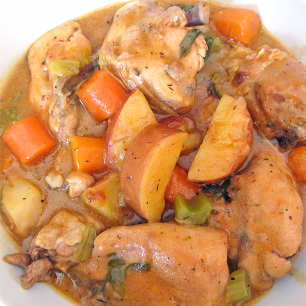 guisado de pollo con verduras
